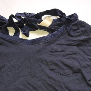 Anthropologie Tops - Anthropologie t shirt tie back shirt